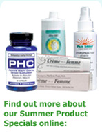 Find out more about our summer product specials on-line